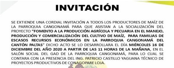 COORDIALMENTE INVITADOS